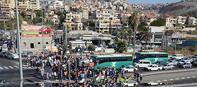 ההפגנה באום אל-פחם (צילום: אדהם מוחמד, zoomout)