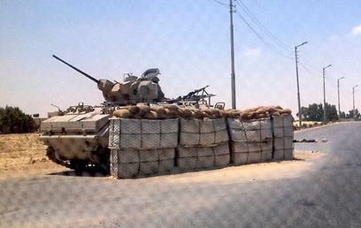 בקשת הצבא המצרי התקבלה על רקע ההחרפה בסיני (צילום: רויטרס)