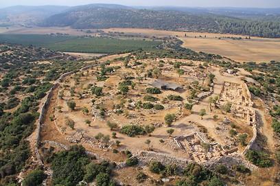 חורבת קיאפה (צילום: חברת  Skyview, באדיבות האוניברסיטה העברית ורשות העתיקות )