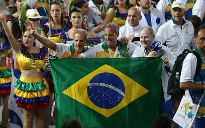 המשלחת הברזילאית (צילום: אורן אהרוני)