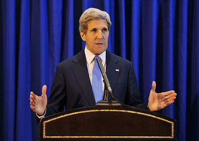 ג'ון קרי מכריז על חידוש המשא ומתן ביום שישי (צילום: גטי אימג'בנק)