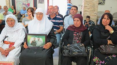 מסיבת העיתונאים בבקה אל גרבייה, היום (צילום: חסן שעלאן)
