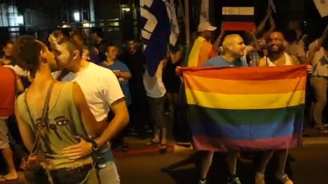 Ynetnews News - TA LGBT community protests against ...