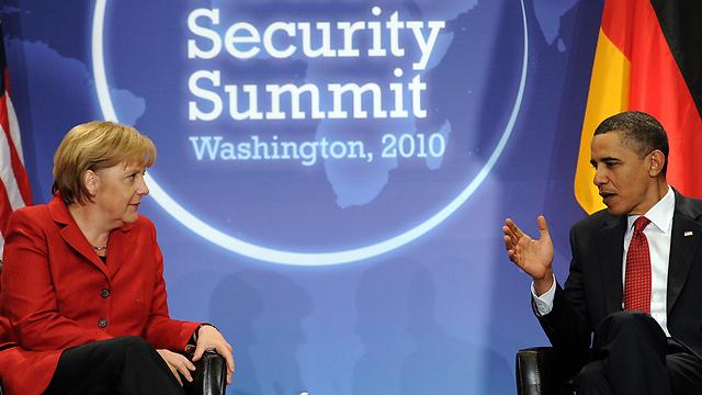אובמה ומרקל. ההאזנה לקנצלרית הדהימה את העולם (צילום: AFP)