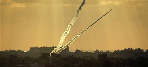 Rocket launched from Gaza (Photo: AP)