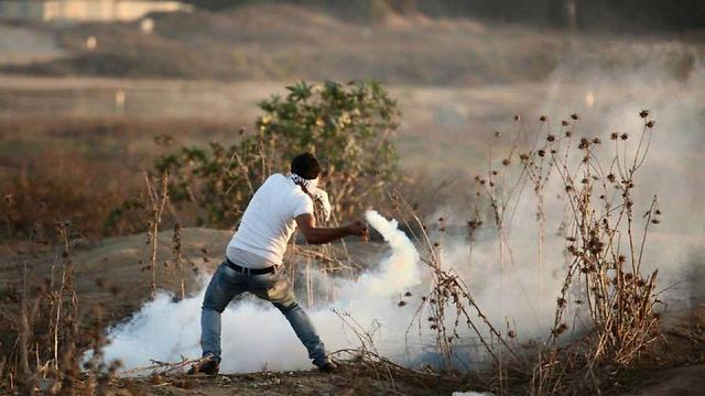 Clashes on the Gaza border Friday.