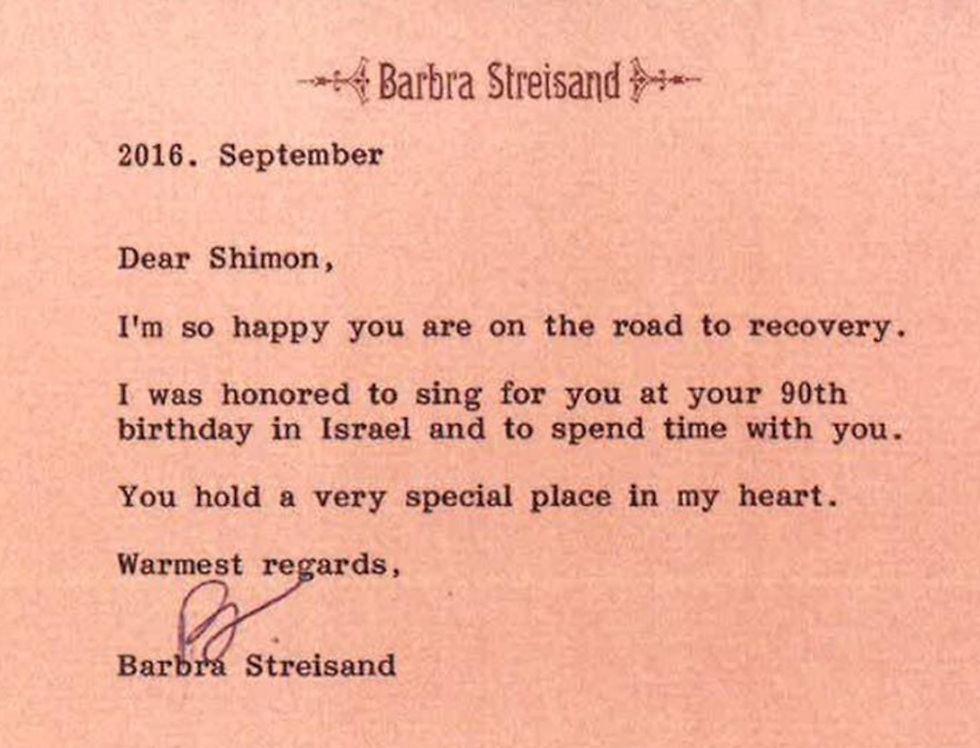 barbra streisand and others wish peres well