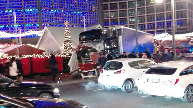 12 dead, up to 50 wounded as truck plows into Berlin