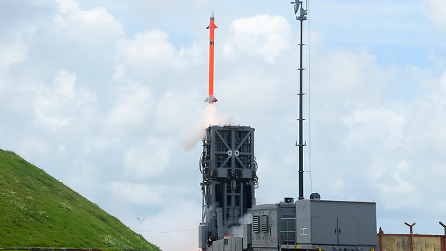 Barak-8 (MR-SAM) being test fired from land based patform