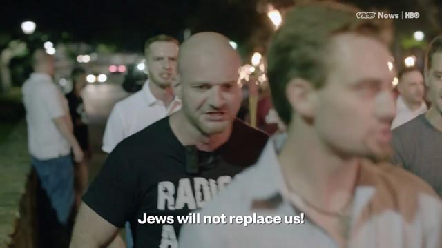WATCH: White supremacists chant 'Jews will not replace us' in  Charlottesville