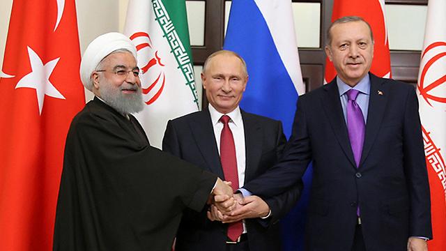 Image result for erdogan, putin, rouhani, photos