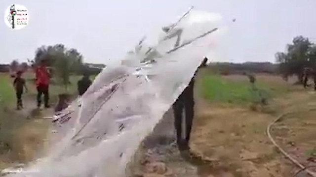 Wheat field set ablaze by Palestinian 'kite terrorism'
