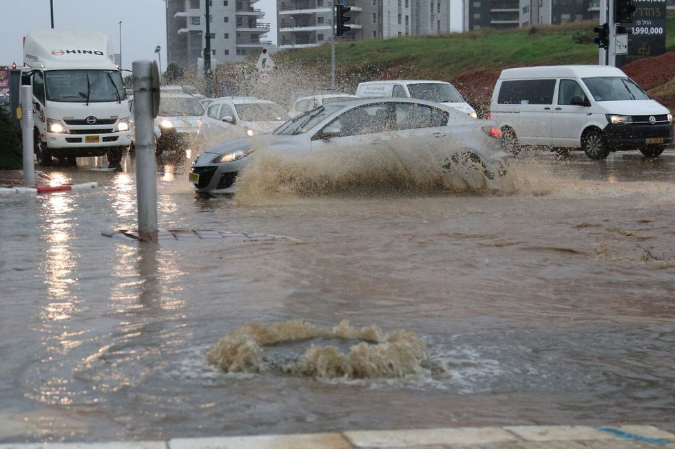50 kids rescued from flooded kindergartens in Rehovot