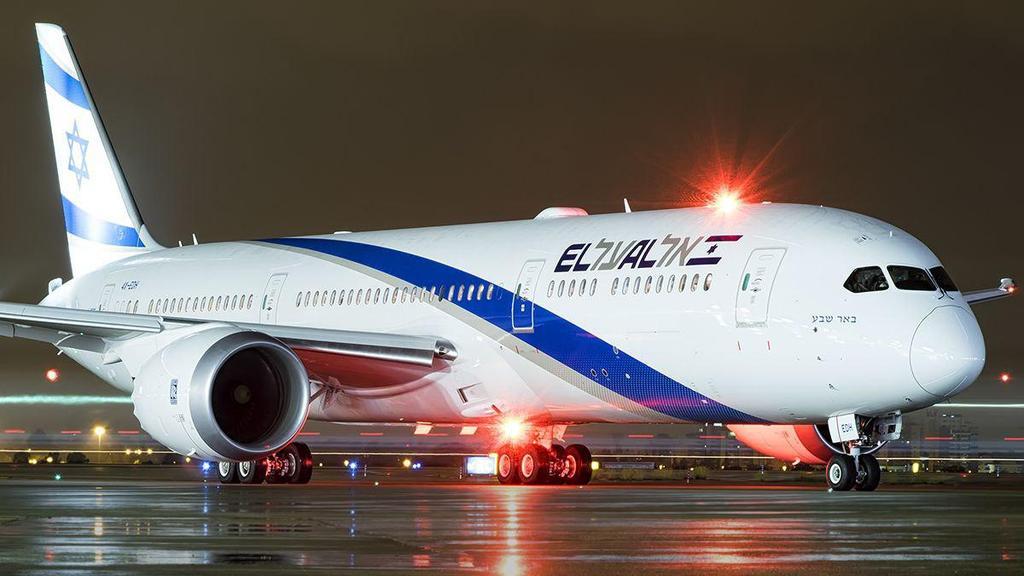 """Лайнер Boeing 787-9 Dreamliner компании """"Эль-Аль"""". Фото: Идо Вехтель (Photo: Ido Echtel)"""
