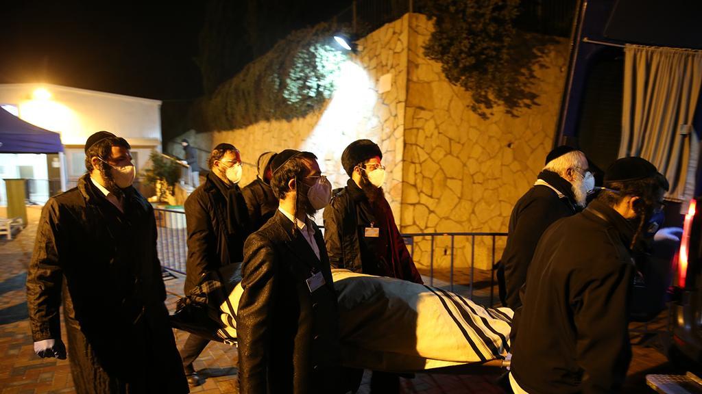 Похороны Арье Эвена, скончавшегося от коронавируса (Photo: Amit Shabi)