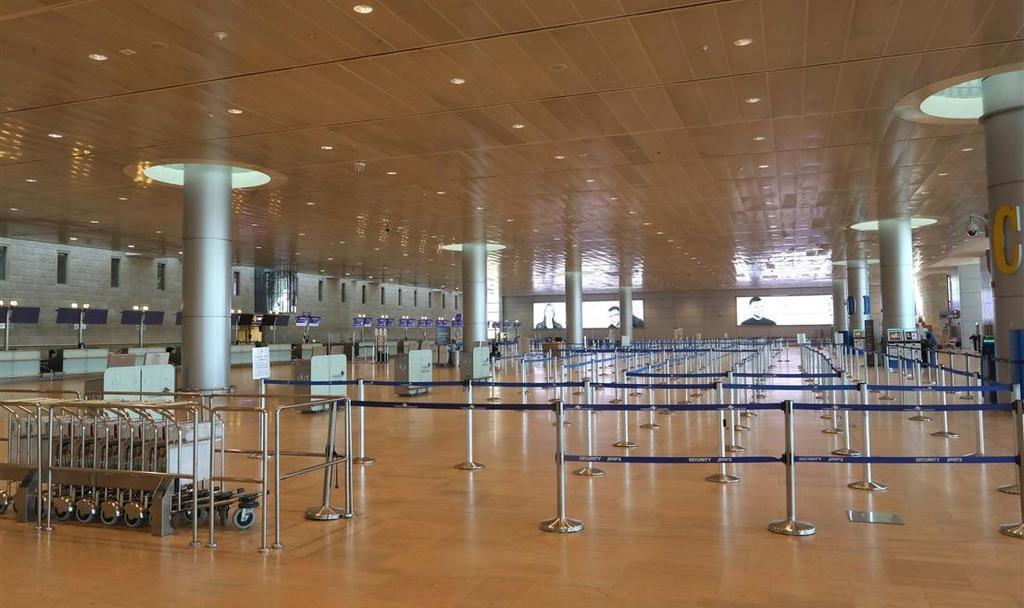 Аэропорт Бен-Гурион пока пустует. Фото: Управление аэропортов